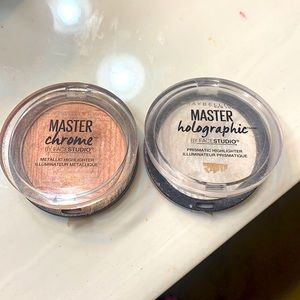 Master chrome rose Molten gold,  and prismatic